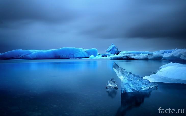 Лед на воде