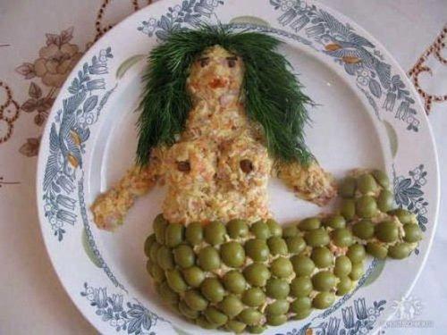 Забавные украшения приготовленных блюд