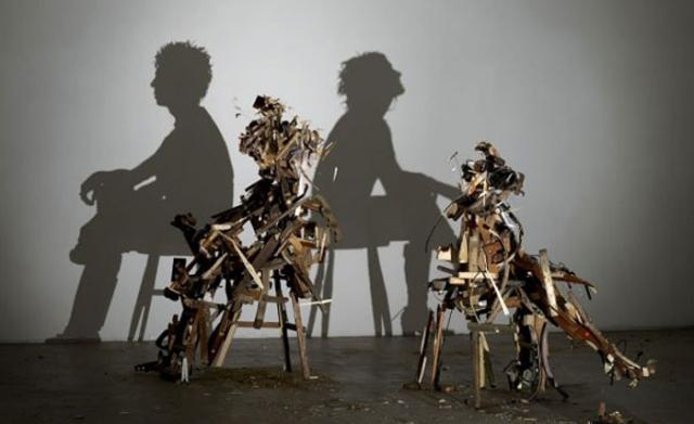 скульптура из хлама
