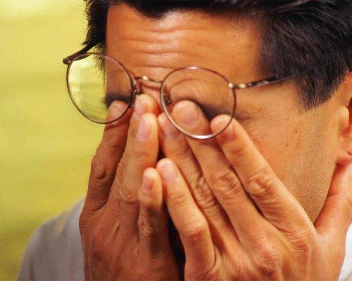 снять напряжение с глаз