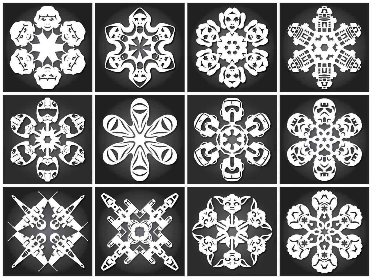 Cнежинки из бумаги