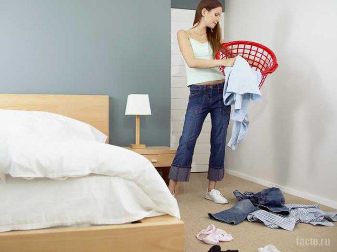 уборка спальни