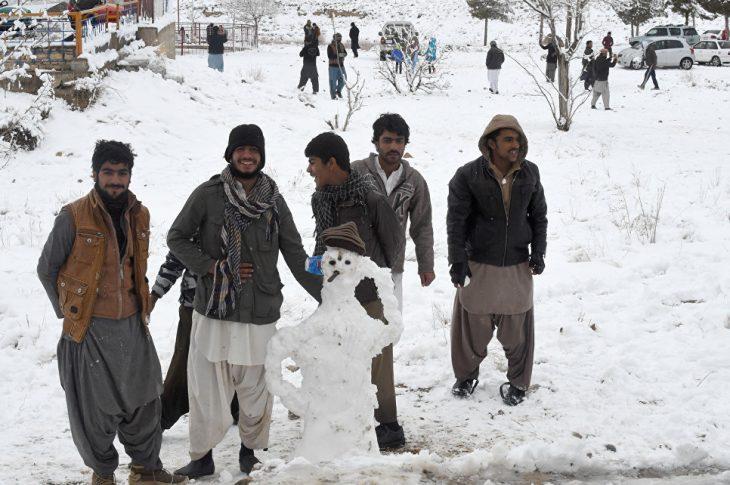 Снег в Пакистане