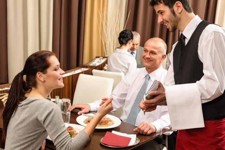 Отношение к официанту