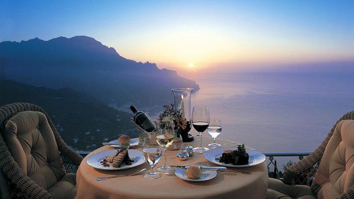 Романтический ужин в Италии