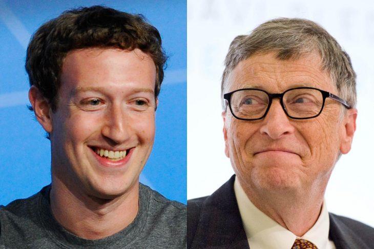 Марк Цукерберг и Билл Гейтс