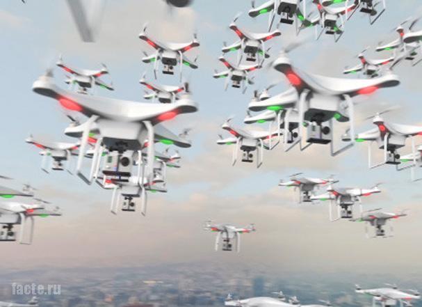Летающий дрон - новая эпоха