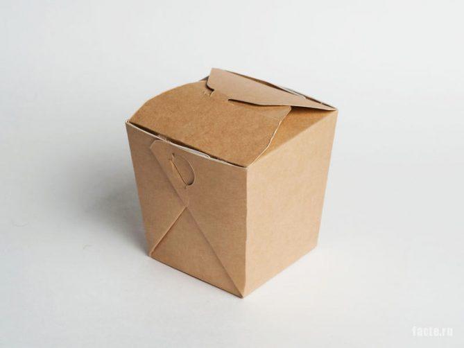 картонная коробочка
