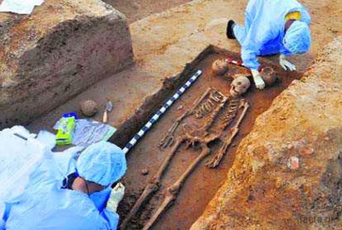 Древние скелеты в Индии