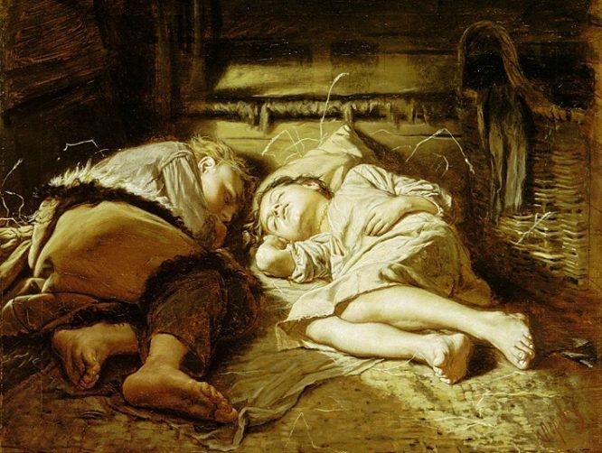 Картина с крестьянскими детьми