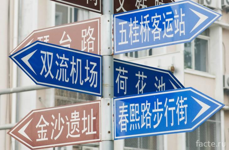 Указатели на китайском