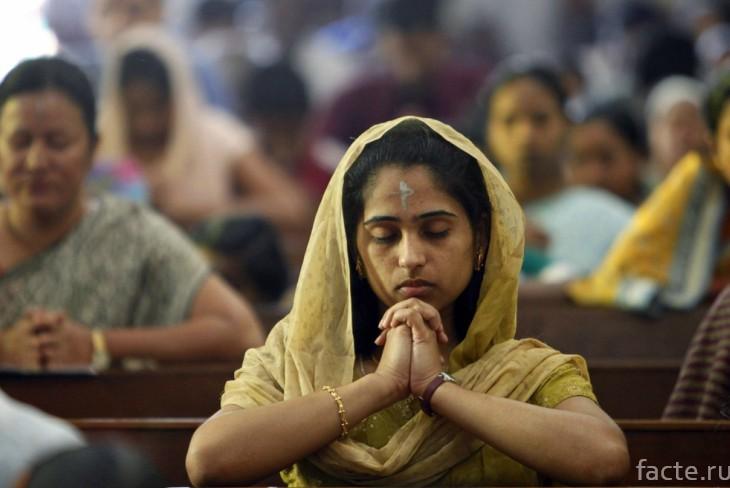 Индийская христианка