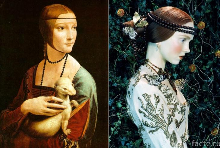 Макияж эпохи Ренессанса и картина Да Винчи