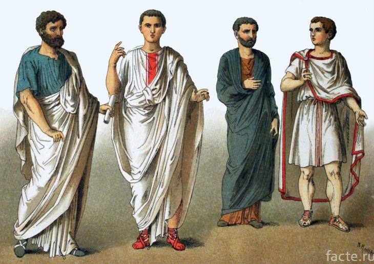 Античная мужская одежда