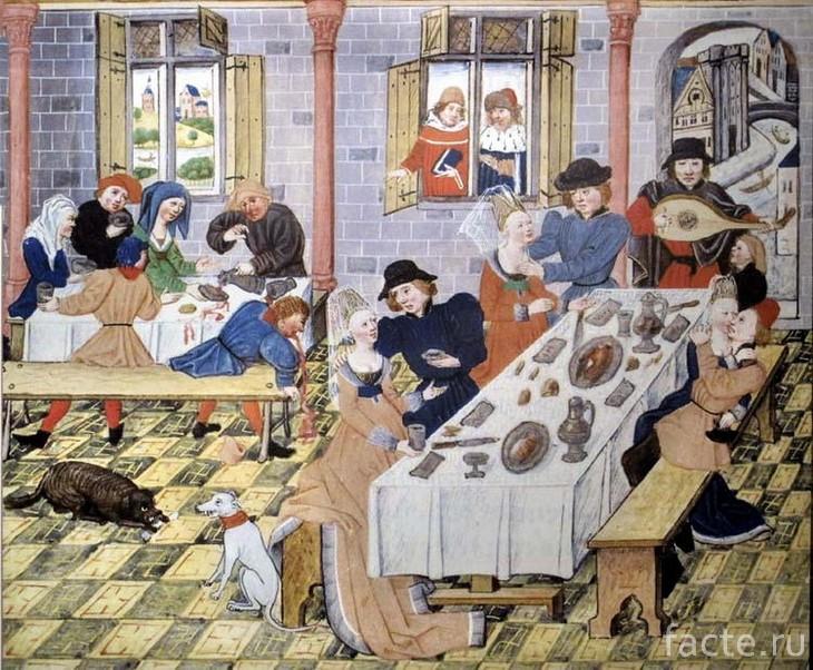 Средневековое застолье