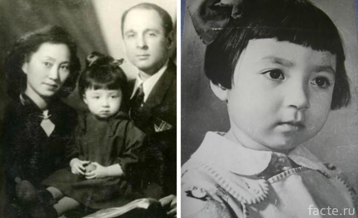 Надя и родители