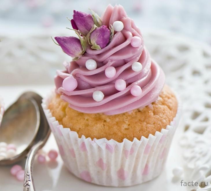 Кекс с цветами