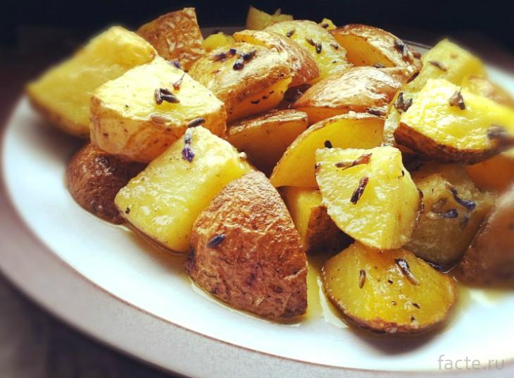 Картофель с лавандой