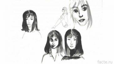 Юная художница Надежда Рушева