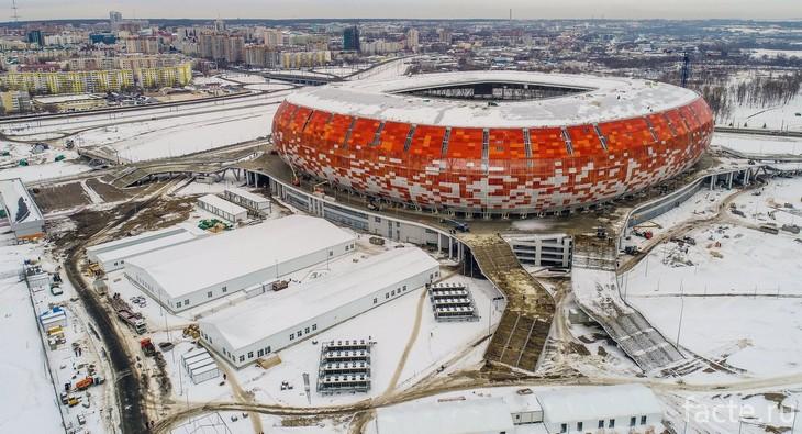 Мордовия Арена зимой