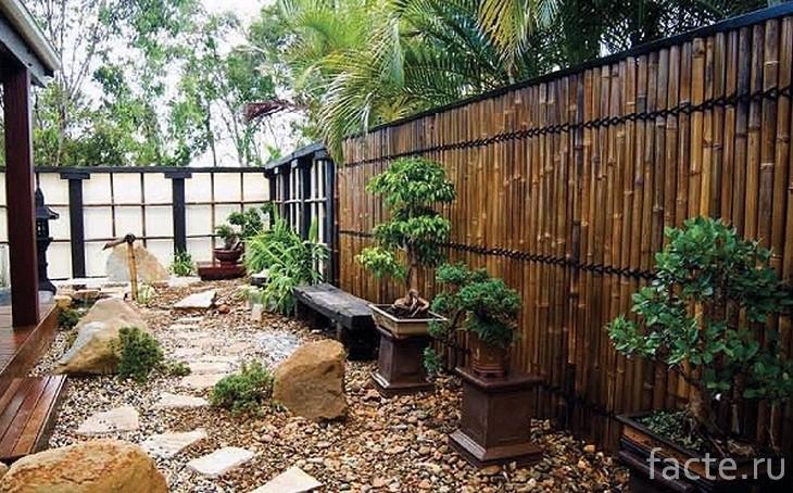 Японскиq сад у дома
