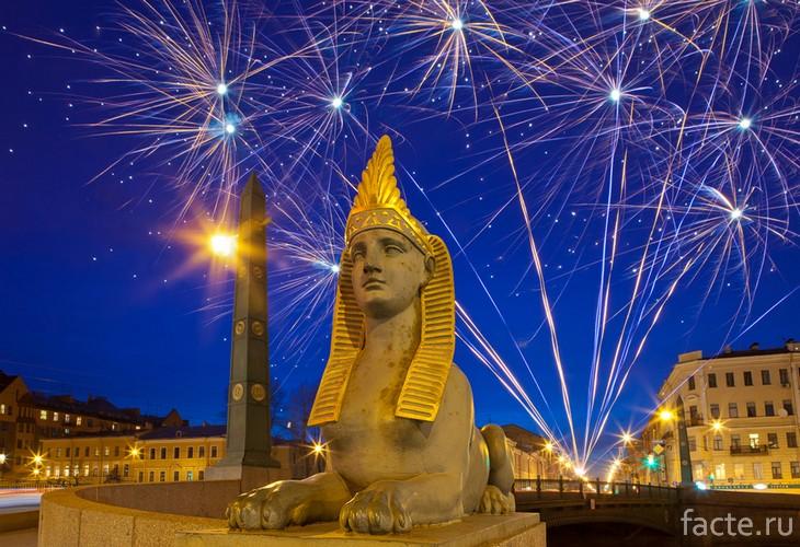 Сфинкс на Египетском мосту СПб