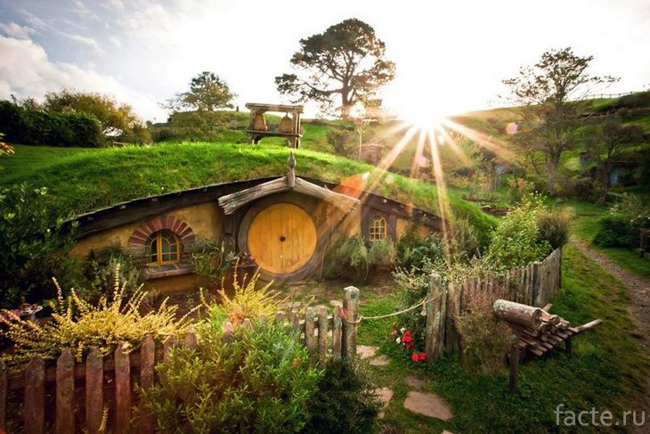 Хоббитон.Новая Зеландия