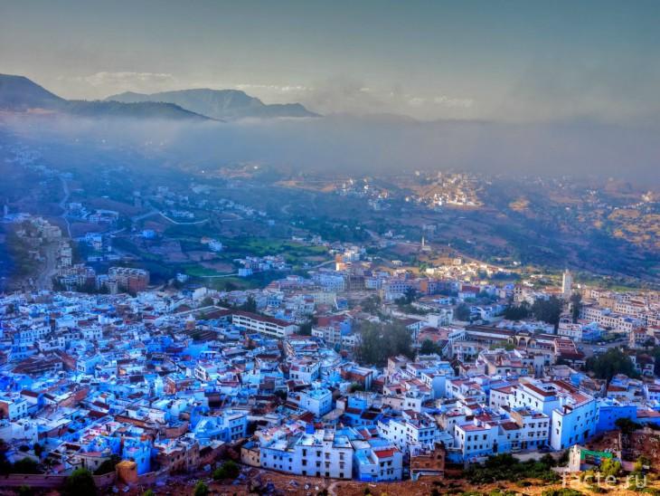 голубой город Марокко