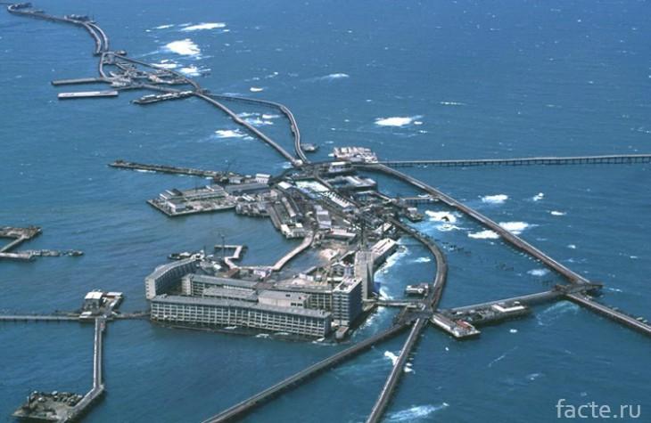город в море