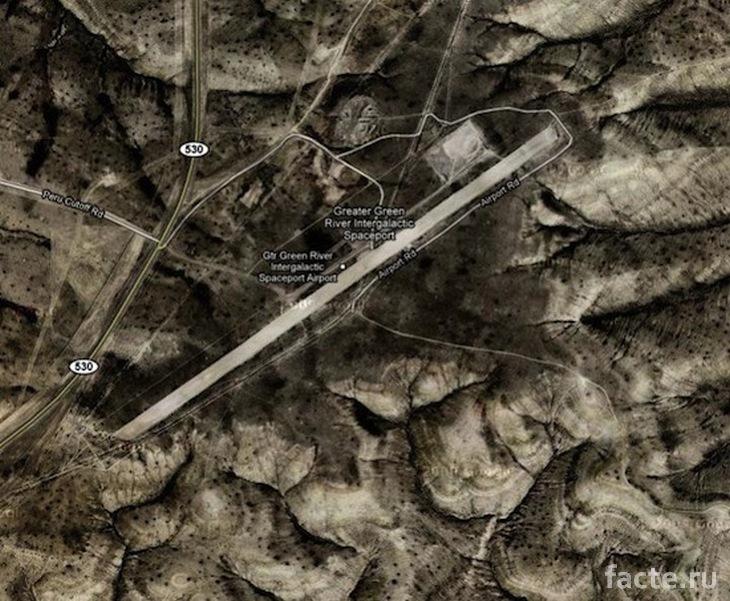 """""""Космодром"""" в Вайоминге. Карта"""