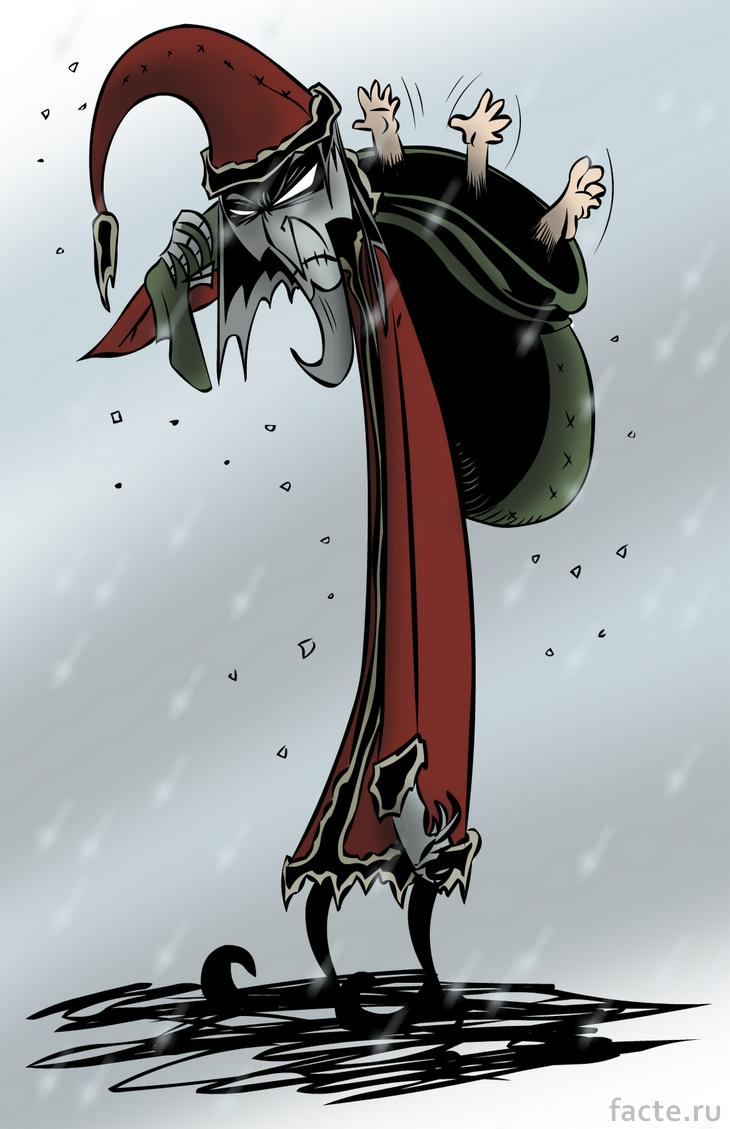 Страшный Санта-Клаус