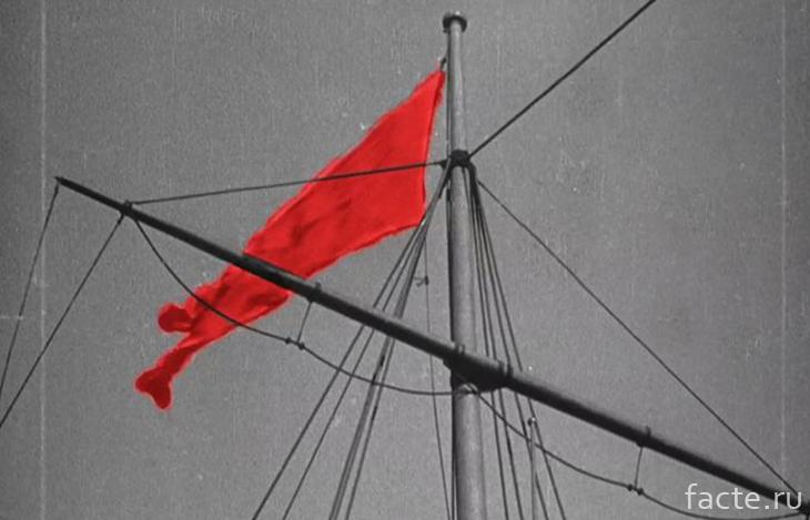 Как создавался красный флаг в фильме Броненосец Потемкин