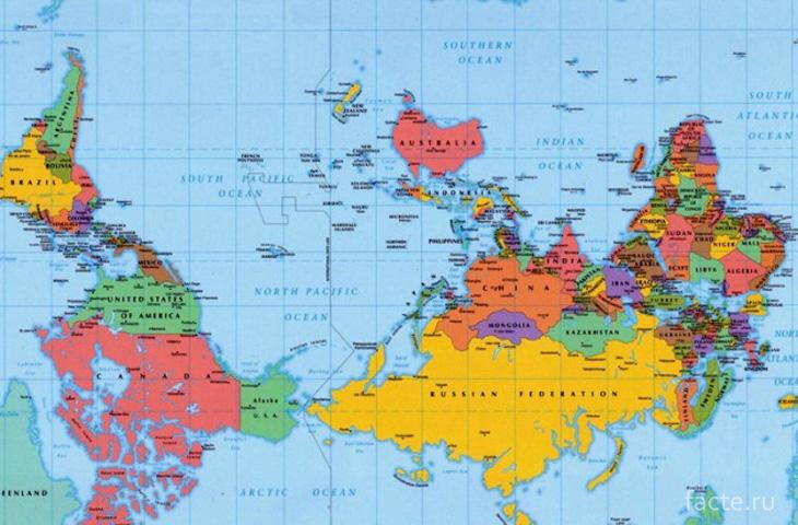 Карта глазами австралийцев