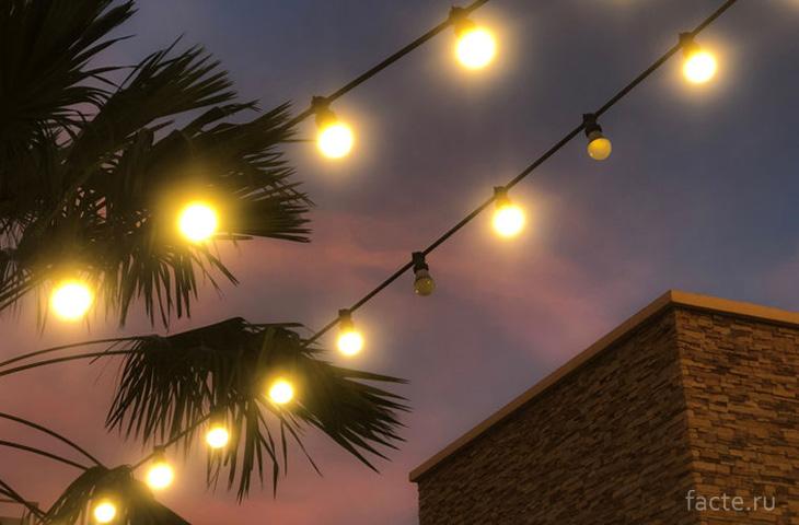 Гирлянды лампочек