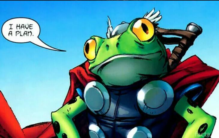 Лягушка Тор во вселенной Марвел