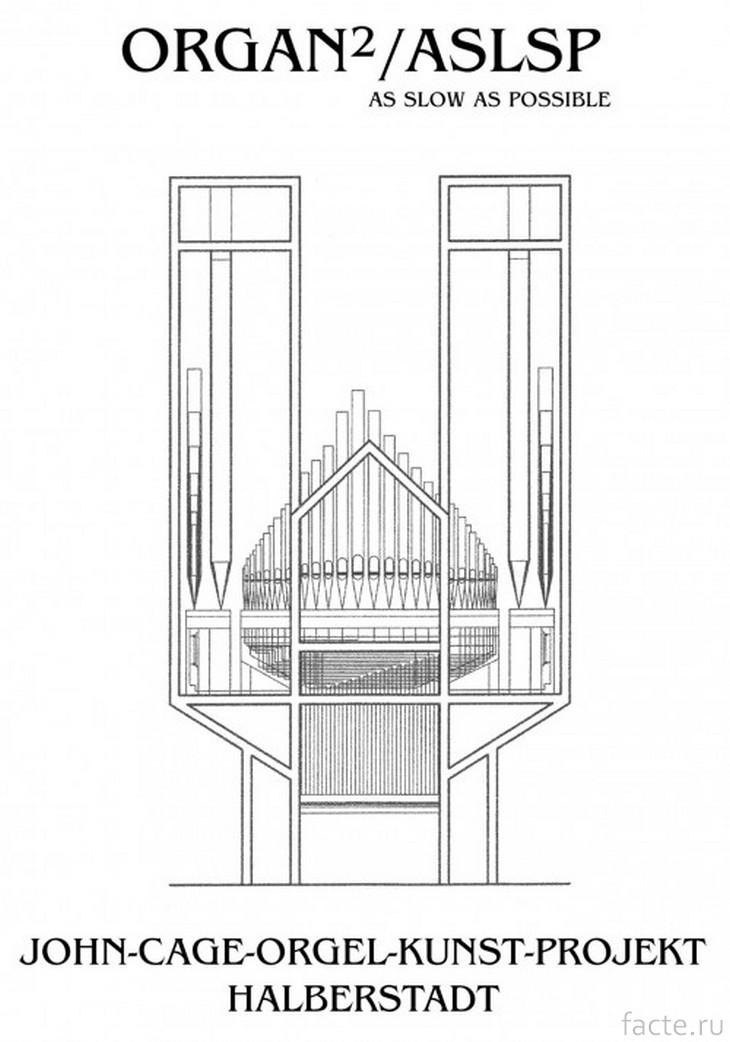 Орган в церкви Санкт-Бурхади. Схема