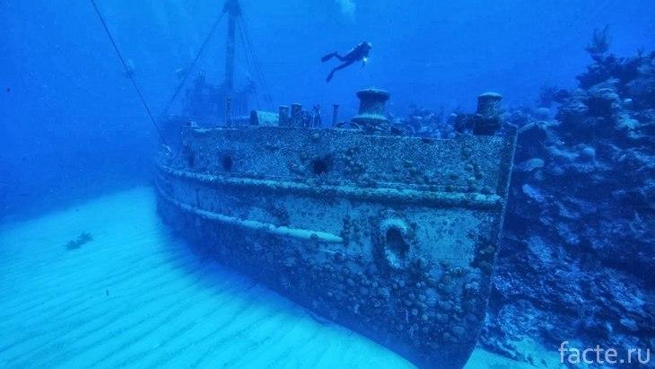 Корабль, затонувший в Бермудском треугольнике