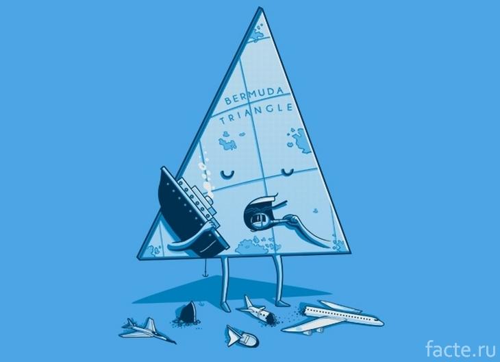 Бермудский треугольник. Карикатура