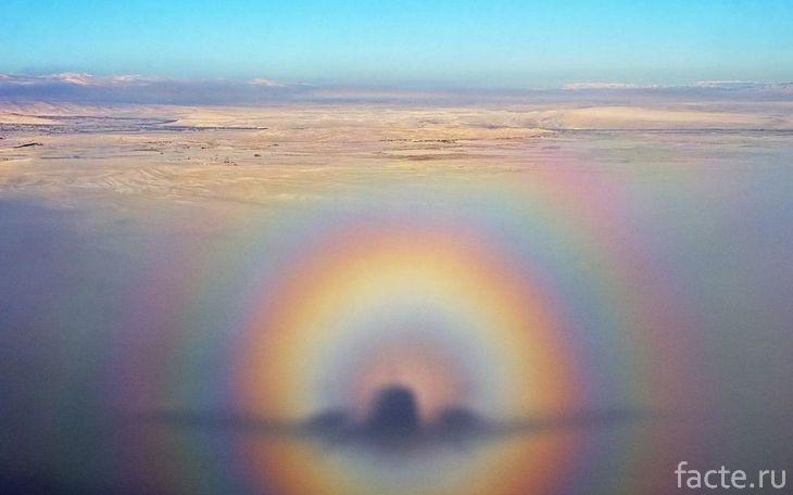 «Призрак» самолета над горой Брокен
