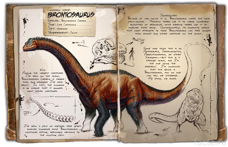 Бронтозавр в книге