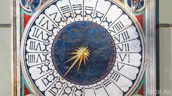 Старинные часы-календарь