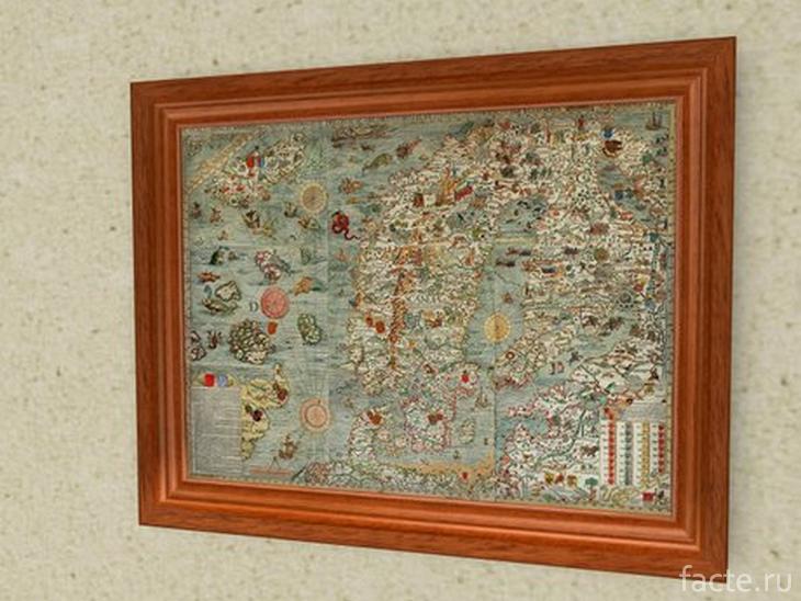 Карта Олафа Магнуса в музее