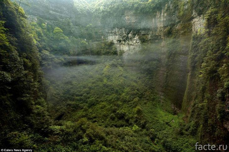 Лес и облака в пещере Эр Ванг Донг