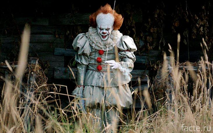 Пеннивайз - самый известный жуткий клоун