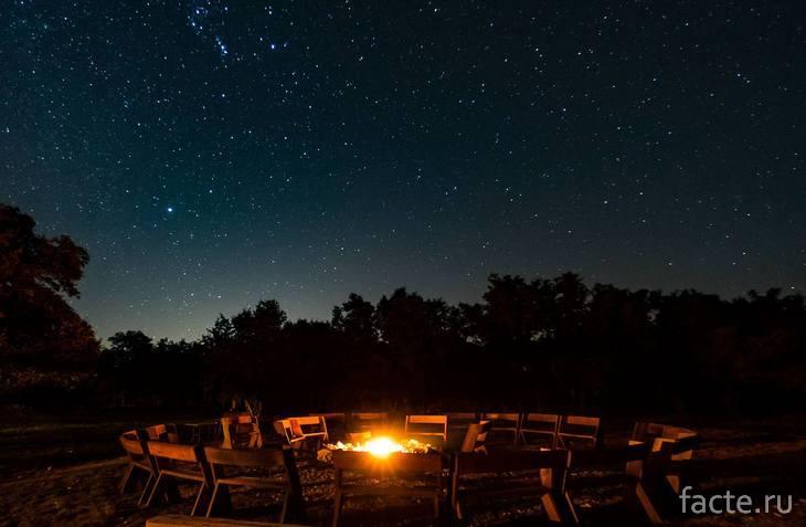 Темное ночное небо