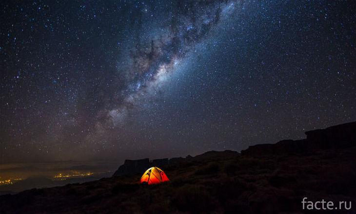 Млечный Путь и палатка