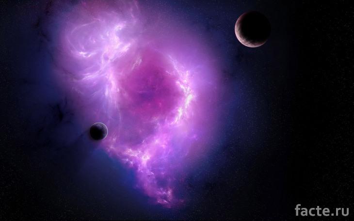 Две экзопланеты в космосе