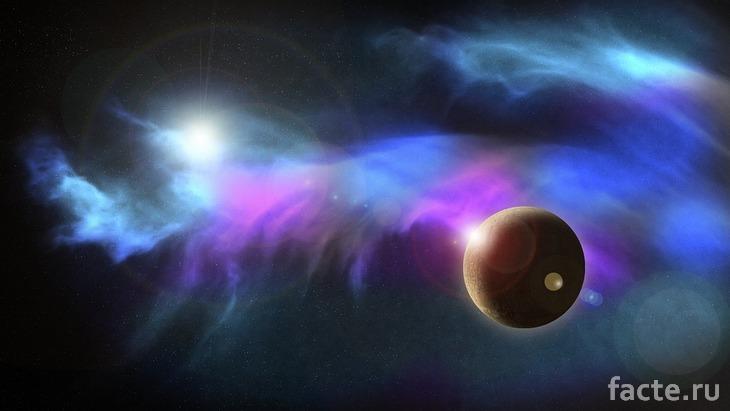 Экзопланета в космосе