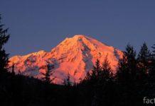 Гора Райнье на закате