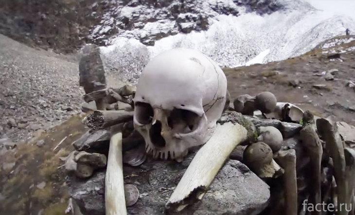 Череп и кости из озера Рупкунд